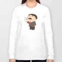 tesla Long Sleeve T-shirts featuring Nikola Tesla by Alapapaju