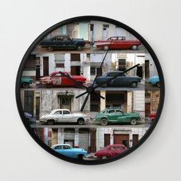 Cuba Cars - Horizontal Wall Clock