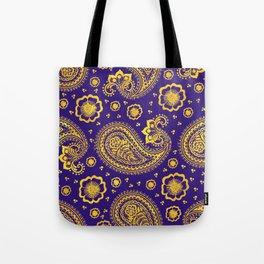 paisley: indigo & gold Tote Bag