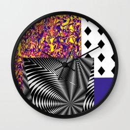 Mashed-up Print Wall Clock