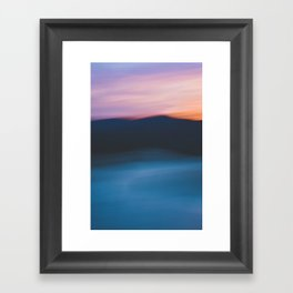Mountain Sunset Abstract Framed Art Print
