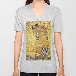 Gustav Klimt - The Embrace - Die Umarmung - Vienna Secession Painting Unisex V-Neck