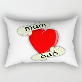Mum and Dad Heart Rectangular Pillow