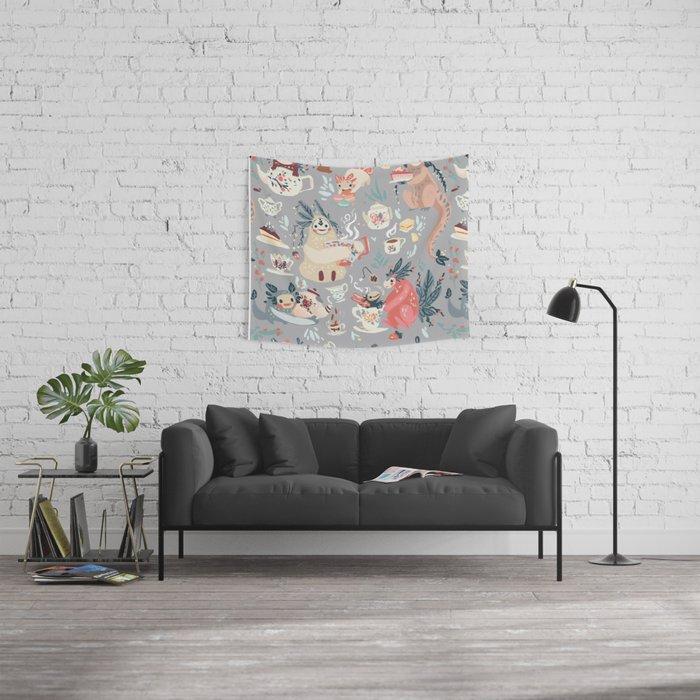 Tea Spirit pattern Wall Tapestry