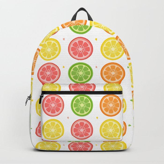 AFE Citrus Pattern Backpack