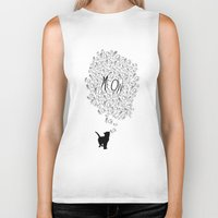 meow Biker Tanks featuring MEOW by Charlene McCoy
