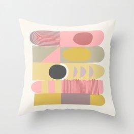 Pastel Totem Throw Pillow