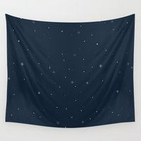 starry night Wall Tapestries featuring starry night by ghostchesters