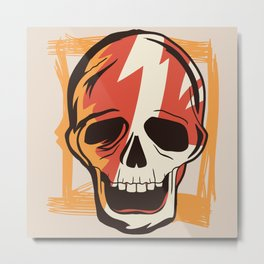Old School Skull Metal Print