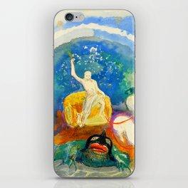 """Odilon Redon """"Apollo riding a green monster (Apollon chevauchant un monstre vert)"""" iPhone Skin"""