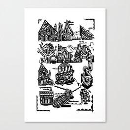 MAISONS Canvas Print
