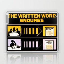 The Written Word Endures. Be Sure to Create It . . . And Preserve It. Laptop & iPad Skin