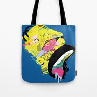 homer Tote Bags featuring Homer 1. by Huxley Chin