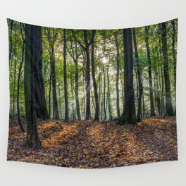 Beech Woodland Sunrise Wall Tapestry