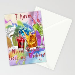 Mixed Drinks About Feelings Stationery Cards