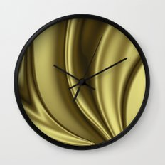 Abstract Fractal Colorways 02 Simple Gold Wall Clock