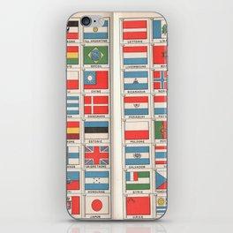 Vintage flags 1935 iPhone Skin