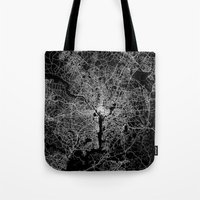 washington Tote Bags featuring washington map by Line Line Lines