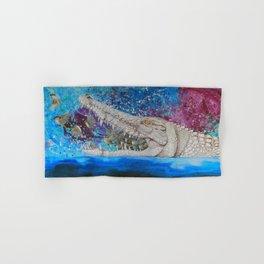 Albino Crocodile Hand & Bath Towel