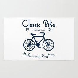 Classic Bike Riding Professional Bicycling Club Cyclist Rug