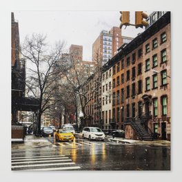 Snow on the Upper East Canvas Print