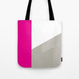Minimal Triangles Magenta Tote Bag