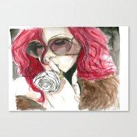 rihanna Canvas Prints featuring Rihanna by Dee Andrews