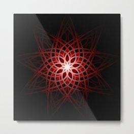 Mandala - Flame Flower Metal Print