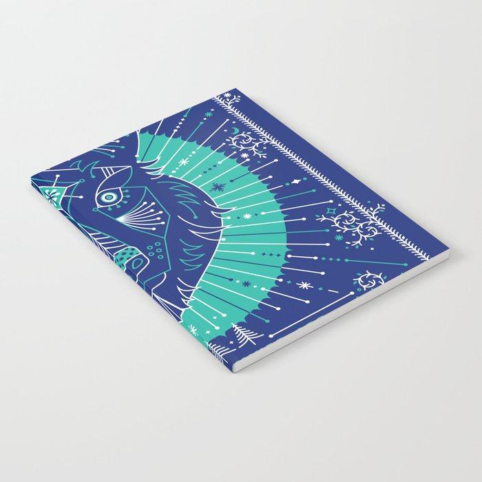 Wild & Free Wolf – Navy Notebook