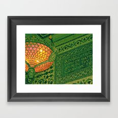 Chicago Cultural Center ~ architecture tiffany lamp detail Framed Art Print