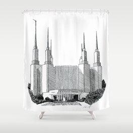 Washington DC LDS Temple Shower Curtain