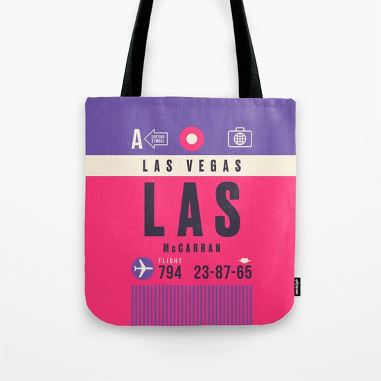 Luggage Tag A - LAS Las Vegas McCarran Nevada by vectordreams