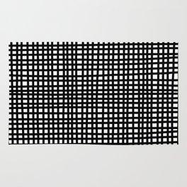 Black and White Gingham Rug