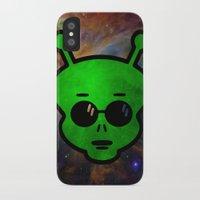 alien iPhone & iPod Cases featuring Alien by Spooky Dooky