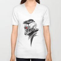 star lord V-neck T-shirts featuring Star Lord by Dik Low