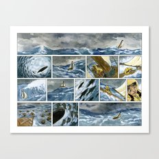 Untitled (A Girl and her Boat) Canvas Print