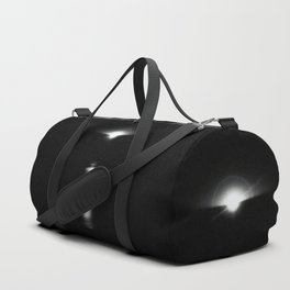 Sunrise in darkness reflecting on water Duffle Bag