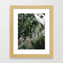 accepting life as it is: the forest Framed Art Print