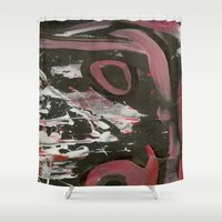 heavy metal Shower Curtains featuring Heavy Metal Music by Corbin Henry