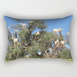 Goats in a tree Rectangular Pillow