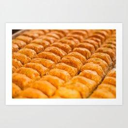Turkish Pastries Art Print