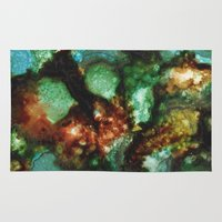 geode Area & Throw Rugs featuring Geode I, Malachite by Titania Designs