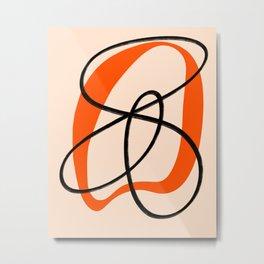 Abstract Orange Black #3 Metal Print