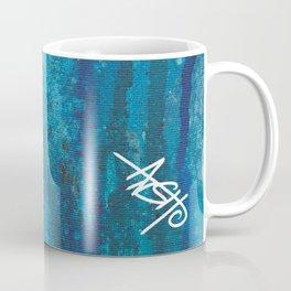 blue spheres and tears VI left side Coffee Mug