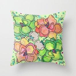 Magnolia & Cotton Throw Pillow