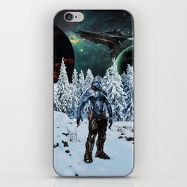 Visitor from Outer Space iPhone Skin