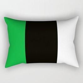 Team Colors 7...green , black Rectangular Pillow