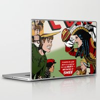captain hook Laptop & iPad Skins featuring Hook Comic by mikaelak