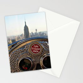 Vision of the Skyline of New York City with the Empire State Building in the distance Stationery Cards