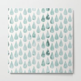 Drop water pattern Metal Print